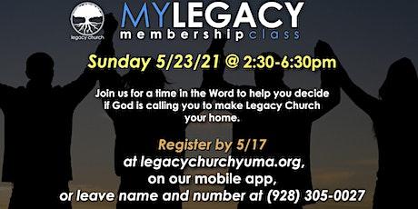 MyLegacy Membership Class tickets