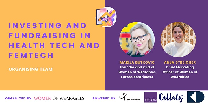 Investing and Fundraising in HealthTech and FemTech - virtual conference image