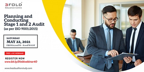 Free Webinar: Planning and Conducting Stage 1 and 2 Audit (ISO 9001:2015) biglietti