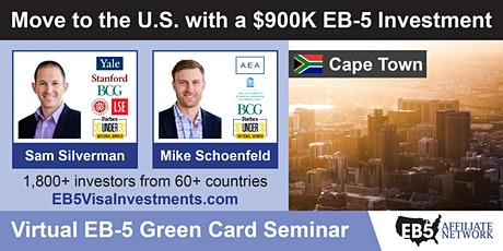 U.S. Green Card Virtual Seminar – Cape Town, South Africa tickets