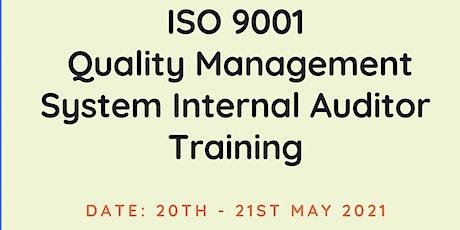 ISO 9001 QMS INTERNAL AUDITOR VIRTUAL TRAINING tickets