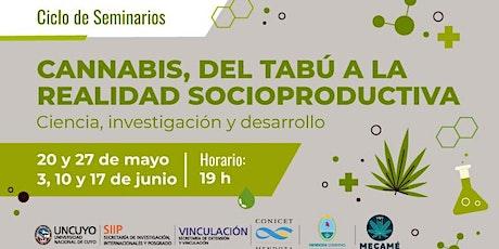 """Ciclo de Seminarios  """"Cannabis, del tabú a la realidad socioproductiva"""" entradas"""