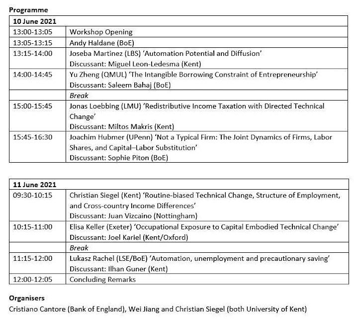 MMF Workshop: Macroeconomic Consequences of Technological Change 10-11 June image