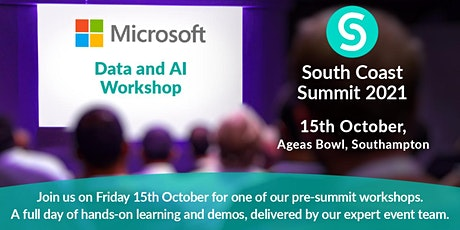 South Coast Summit 2021 - Data and AI Workshop tickets