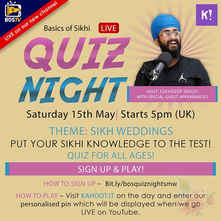 BoS Quiz Night! - Sikh Marriage Week Special! image