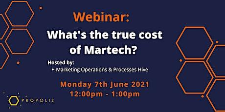 Propolis Webinar: What's the true cost of Martech? tickets