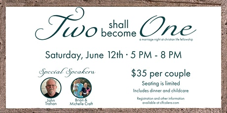 The Two Shall Become One: A Marriage Night at CLF tickets