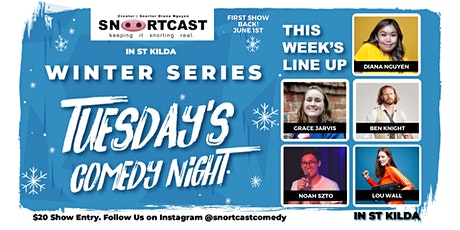 SnortCast Comedy with PB's Pizza Bar St Kilda tickets