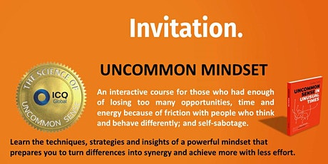 Uncommon Mindset Bootcamp - Level up with ICQ Growth Mindset entradas