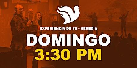 Experiencia de Fe 3:30pm Sede Heredia entradas