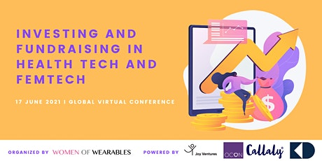 Investing and Fundraising in HealthTech and FemTech - virtual conference tickets