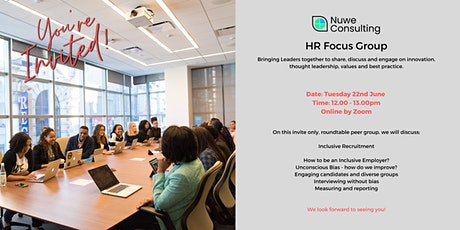 HR Focus Group -  Inclusive Recruitment tickets