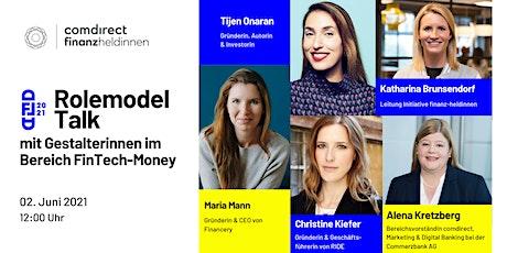 Rolemodel  Talk  1 -  mit Gestalterinnen im Bereich FinTech-Money Tickets
