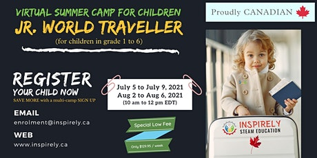 Virtual Summer Camp | Junior World Traveller | For Children in grade 1 to 6 tickets