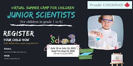 Virtual Summer Camp | Junior Scientists | For Children grade 1 to 6 tickets