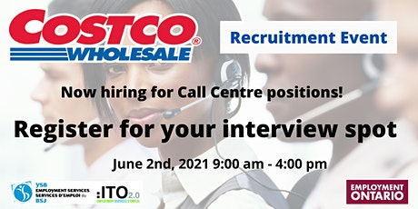 Costco Recruitment Event/Virtual Interviews - Inbound Contact Centre Agent tickets
