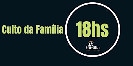Culto maternal - 3  a 5 anos -18h ingressos