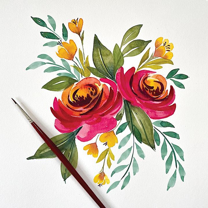 Watercolor Painting Class at Broken Clock Brewing Cooperative image