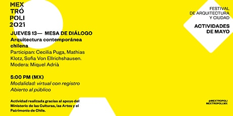 MESA DE DIÁLOGO Arquitectura contemporánea chilena entradas