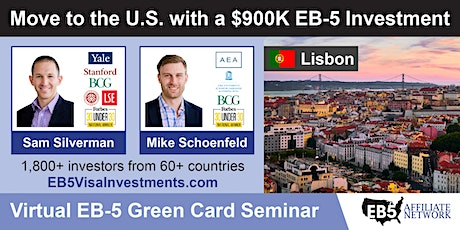 U.S. Green Card Virtual Seminar – Lisbon, Portugal ingressos