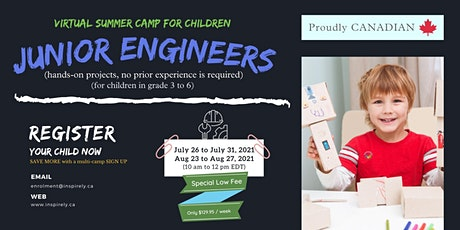 Virtual Summer Camp | Junior Engineers | For Children grade 1 to 6 tickets