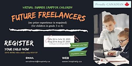 Virtual Summer Camp | Junior Freelancers | For Children grade 3 to 6 tickets