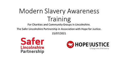 Free Modern Slavery Awareness Training for Charities & Community Groups tickets