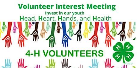 4-H Volunteer Interest Meeting Tickets