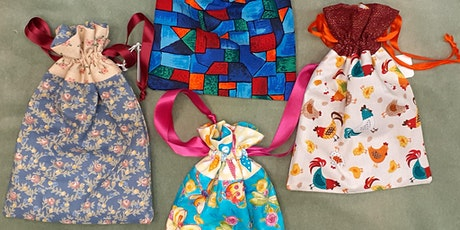 Sewing Machine Basics - Drawstring gift bag tickets