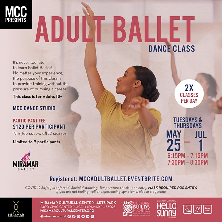 EXPERIENCE MCC:  Adult Ballet Dance Class: May 25 - July 1 image