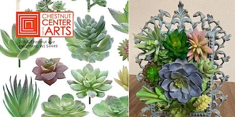 DIY Vertical Succulent Garden-Adult  Craft Class tickets