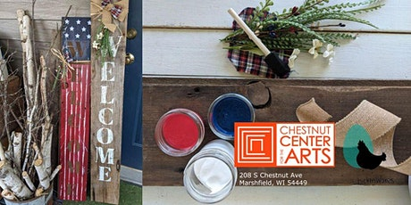 DIY Stars and Stripes Welcome Sign- Adult Craft Class tickets