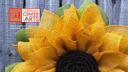 DIY Burlap Sunflower Wreath - Adult Craft Class tickets