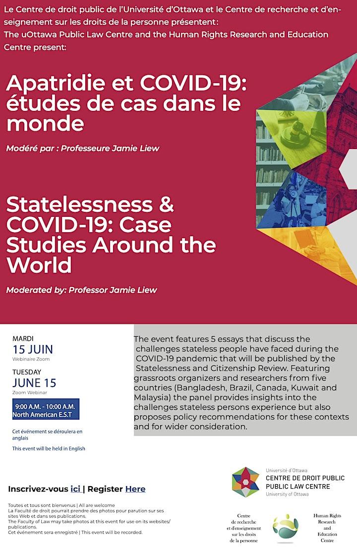 Statelessness & COVID-19: Case Studies Around the World image
