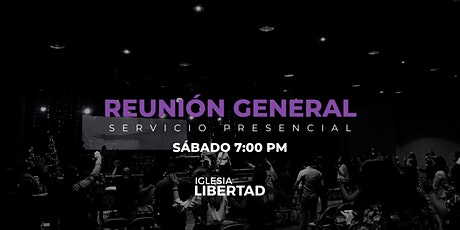Reunión General 15 Mayo | Sábado 7:00 PM boletos