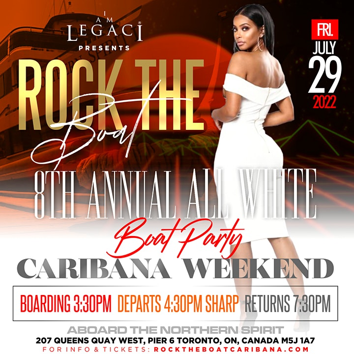 ROCK THE BOAT  •  8th ANNUAL ALL WHITE BOAT PARTY  •  TORONTO CARIBANA 2022 image