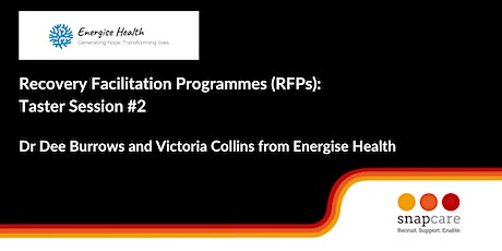 Recovery Facilitation Programmes, Taster Session 2 tickets