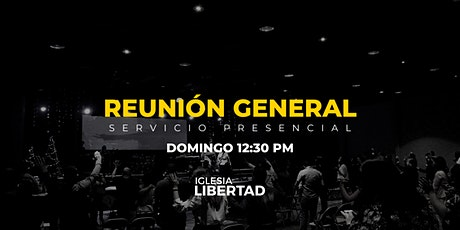 Reunión General 16 Mayo | Domingo 12:30 AM boletos