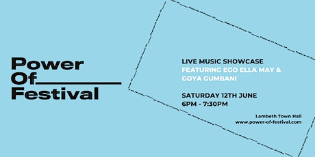 Power Of Festival x Fred Perry - Live Music Showcase tickets