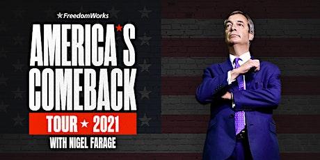Nigel Farage - America's Comeback Tour 2021 - Biloxi, MS tickets