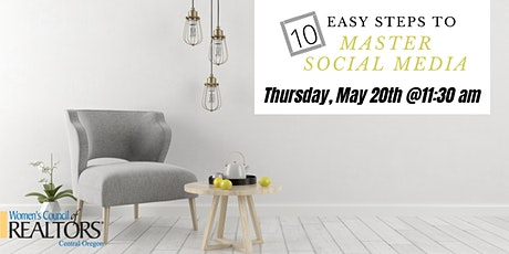 10 Easy Steps to Master Social Media- May Resource Meeting tickets