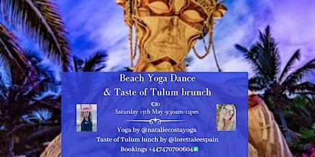 Beach yoga & Taste of Tulum brunch at Sonora Beach entradas