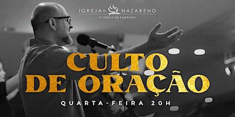 Culto De Oração -  12/05 - 20h tickets