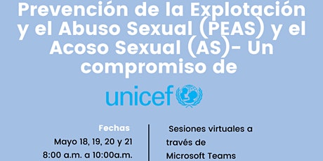 Prevención de la Explotación y el Abuso Sexual (PEAS) y Acoso Sexual (AS) entradas
