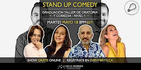 Graduación Taller Online: Oratoria y Comedia - Nivel 1 boletos