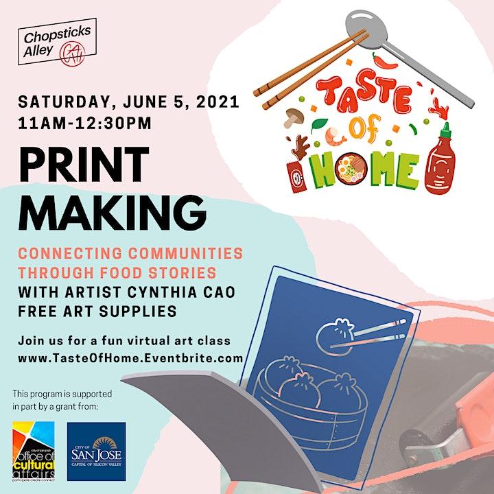 Taste of Home: Food Stories, a Printmaking Workshop image