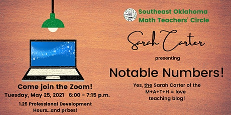 Southeast Oklahoma Math Teachers' Circle  -  May  25, 2021 Meeting! tickets