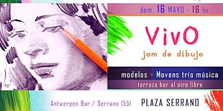 VivO - jam de dibujo en la terraza / Plaza Serrano entradas