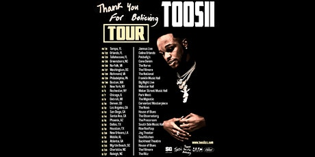 Toosii - Thank You For Believing TOUR tickets