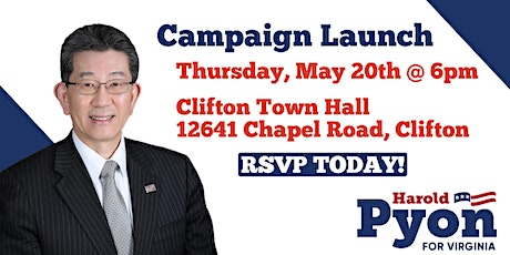 Harold Pyon for Delegate Campaign Launch tickets
